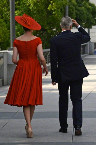 Queen Mathilde, June 25, 2015 in Fabienne Delvigne | Royal Hats