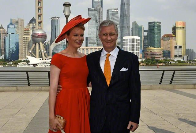 Queen Mathilde, June 25, 2015 in Fabienne Delvigne   Royal Hats