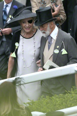 Princess Michael of Kent in Philip Treacy,  June 16, 2015 | Royal Hats