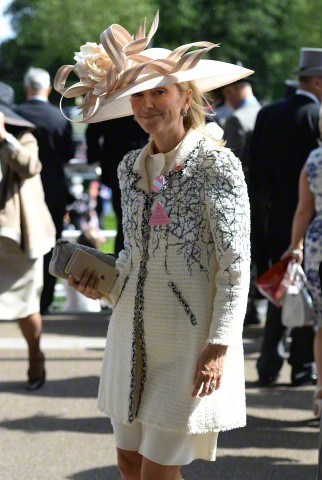 18 Jun 2015, Ascot, Berkshire, England, UK --- Ladies Day at Royal Ascot at the Ascot Racecourse in Ascot, Berkshire, UK on June 18, 2015. Pictured: Crown Princess Marie Chantal of Greece --- Image by © James Whatling/Splash News/Corbis