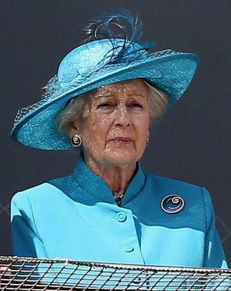 Princess Alexandra of Kent, June 6, 2015 in Rachel Trevor Morgan | Royal Hats