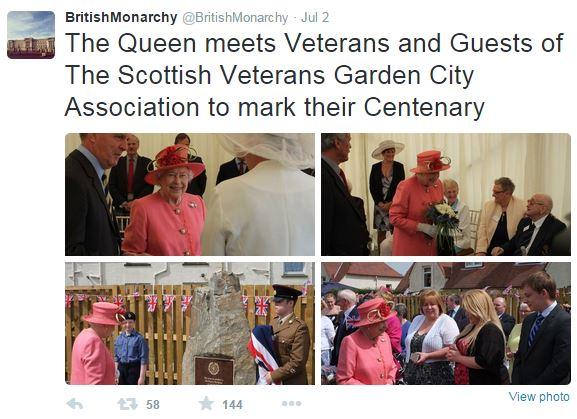 Queen Elizabeth, July 2, 2015 in Rachel Trevor Morgan