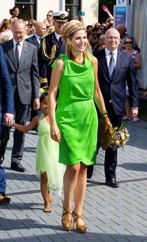 Queen Máxima, July 7, 2015 in Fabienne Delvigne   Royal Hats