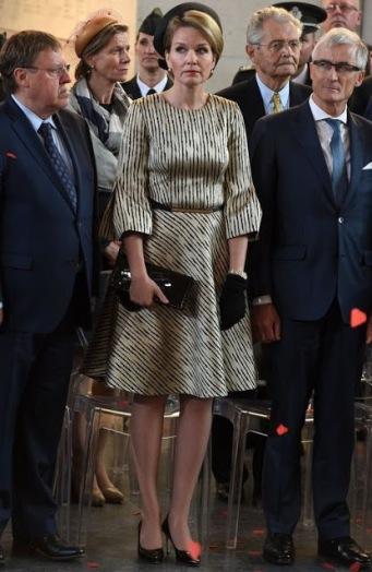 Queen Mathilde, July 9, 2015 in Fabienne Delvigne | Royal Hats