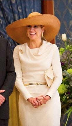 Princess Máxima, January 22, 2013 in Fabienne Delvigne | Royal Hats
