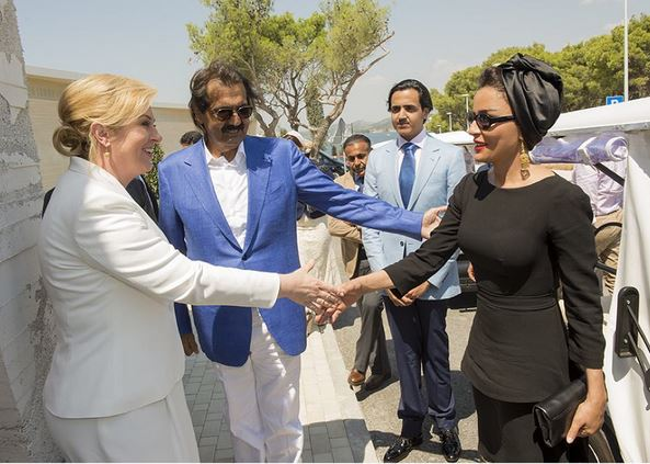 Sheikha Mozah, August 6, 2015 | Royal Hats