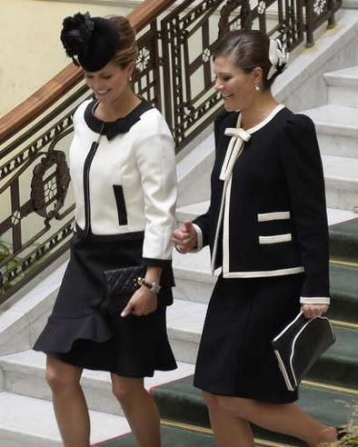 Princess Madeleine and Crown Princess Victoria, September 15, 2015 | Royal Hats