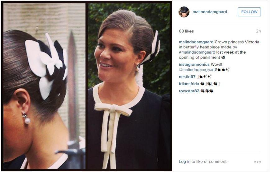 Princess VIctoria, September 15, 2015 in Malinda Damgaard | Royal Hats