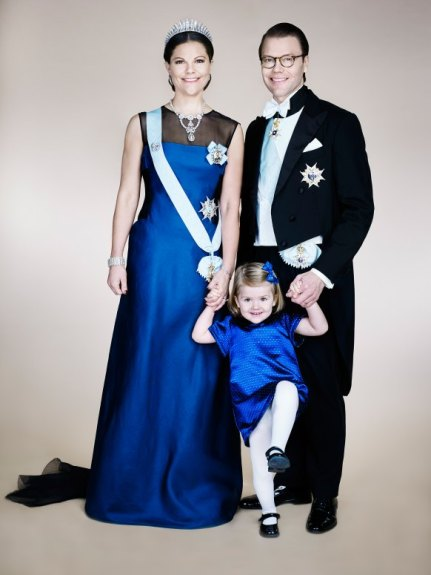 Crown Princess Victoria, Prince Daniel, and Princess Estelle
