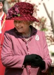 Britain's Queen Elizabeth II leaves after attending the traditional Easter Sunday Service at St George's Chapel in Windsor Castle