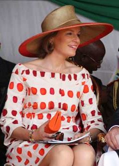 Queen Mathilde, July 3, 2012 in Fabienne Delvigne | Royal Hats