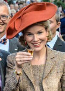 Queen Mathilde, October 2, 2013 in Fabienne Delvigne   Royal Hats