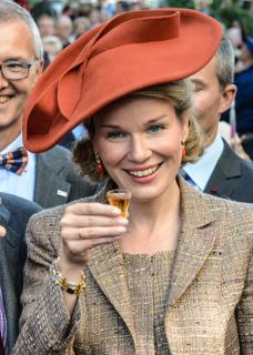Queen Mathilde, October 2, 2013 in Fabienne Delvigne | Royal Hats