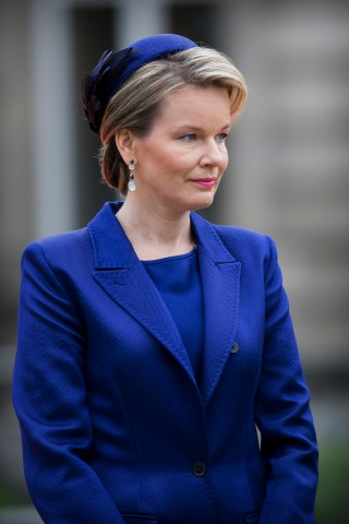 Queen Mathilde, October 5, 2015 in Elvis Pompilio | Royal Hats