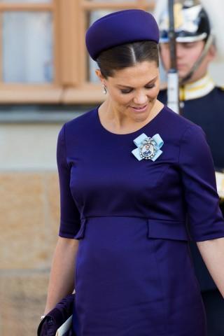 Crown Princess Victoria, October 11, 2015 in Philip Treacy | Royal Hats