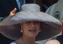 Princess Caroline, May 10, 2015 in The Madagascar Hat Company | Royal Hats