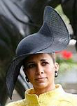 Princess Haya, June 16, 2015 in Philip Treacy. Suit by Chanel | Royal Hats