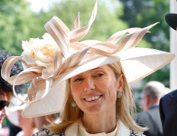 Princess Marie-Chantal, June 18, 2015 in Philip Treacy | Royal Hats
