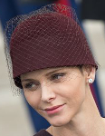 Princess Charlene, November 19, 2015 in Akris | Royal Hats
