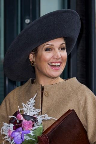 Queen Máxima, December 8, 2015 in Fabienne Delvigne | Royal Hats