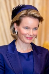 Queen Mathilde, Dec. 2, 2013 Elvis Pompilio   Royal Hats