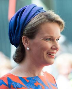 Queen Mathilde, May 20, 2015 in Fabienne Delvigne | Royal Hats