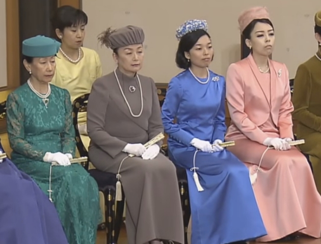Princess Hanako, Princess Nobuko, Princess Akiko and Princess Yoko, January 12, 2016 | Royal Hats