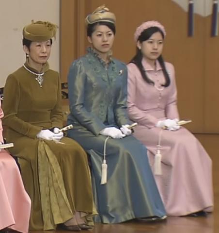 Princess Hisako, Princess Tsuguko and Princess Ayako, January 12, 2016 | Royal Hats