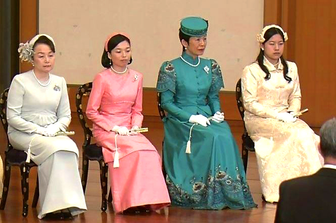 Princess Nobuko, Princess Akiko, Princess Hisako and Princess Ayako, January 15, 2016 | Royal Hats
