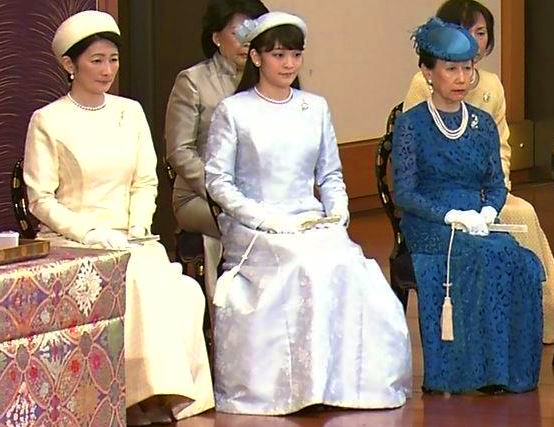Princess Kiko, Princess Mako and Princess Hanako, January 15, 2016 | Royal Hats