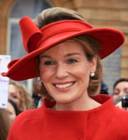 Queen Mathilde, October 18, 2013 in Fabienne Delvigne | Royal Hats