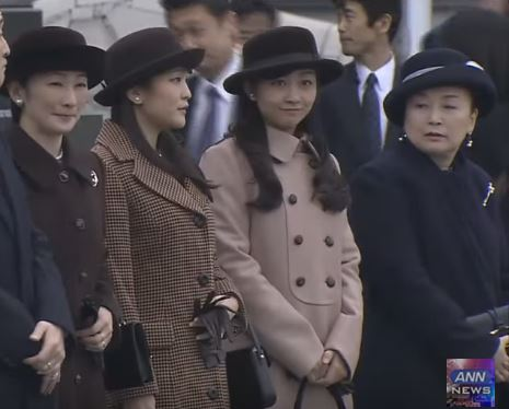 Princess Kiko, Princess Mako, Princess Kako and Princess Nobuko, January 30, 2016 | Royal Hats