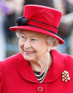 Queen Elizabeth, February 7, 2016 in Angela Kelly | Royal Hats