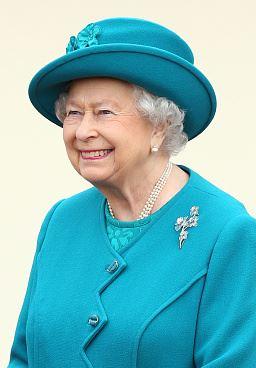 Queen Elizabeth, February 4, 2016 in Rachel Trevor Morgan | Royal Hats