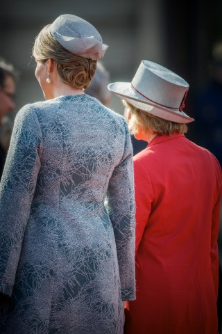 Queen Mathilde, March 8, 2016 in Fabienne Delvigne |Royal Hats