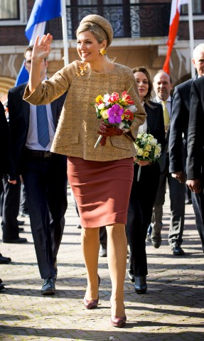 Queen Máxima, March 14, 2016 in Fabienne Delvigne | Royal Hats