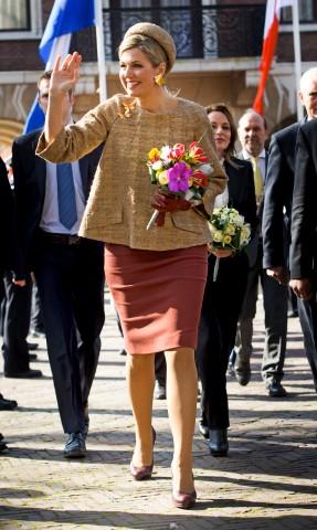 Queen Máxima, March 14, 2016 in Fabienne Delvigne | Royal Hats