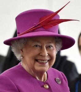 Queen Elizabeth, March 3, 2016 in Rachel Trevor Morgan | Royal Hats