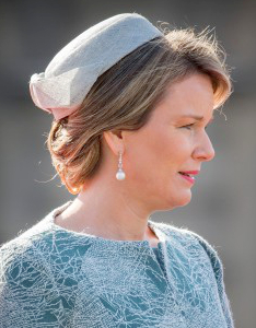 Queen Mathilde, March 8, 2016 in Fabienne Delvigne | Royal Hats