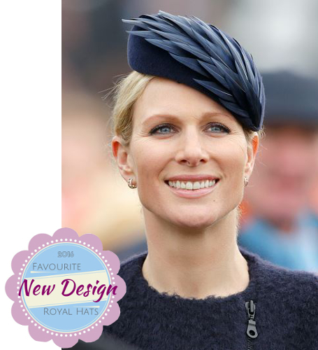 Zara Phillips Tindall, March 16, 2016 in Rosie Olivia   Royal Hats
