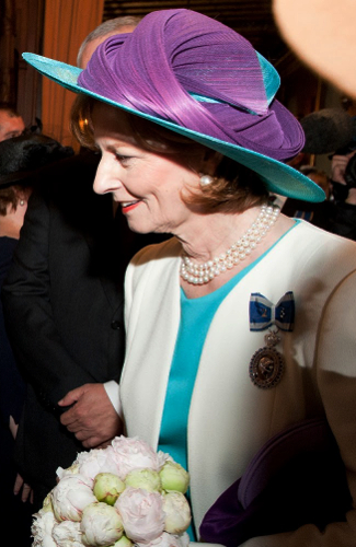 Crown Princess Margarita, May 10, 2016 in Kristina Dragomir | Royal Hats