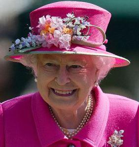 Queen Elizabeth, April 20, 2016 in Rachel Trevor Morgan | Royal Hats
