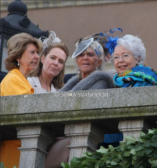 Princess Désirée von Bohlen und Halbach, Désirée von Bohlen und Halbach, Princess Brigitte and Princess Christina, April 30, 2016 Photo taken by Sofia Svanholm | Royal Hats