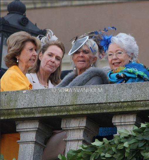 Princess Désirée von Bohlen und Halbach, Désirée von Bohlen und Halbach, Princess Brigitte and Princess Christina, April 30, 2016 Photo taken by Sofia Svanholm | Royal Hats