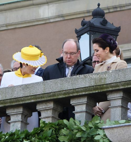 Princess Hisako and Crown Princess Mary, April 30, 2016 Photo taken by Sofia Svanholm | Royal Hats