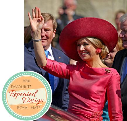 Queen Máxima, April 13, 2016 in Fabienne Delvigne | Royal Hats