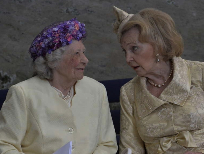 Mrs. Dagmar von Arbin and Countess Marianne Bernadotte, May 27, 2016 | Royal Hats