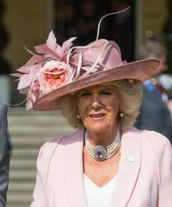 The Duchess of Cornwallm May 12, 2016 in Philip Treacy| Royal Hats