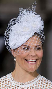 Crown Princess Victoria, May 27, 2016 in Philip Treacy | Royal Hats