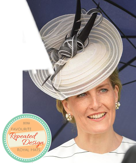 Countess of Wessex, May 10, 2016 in Jane Taylor | Royal Hats